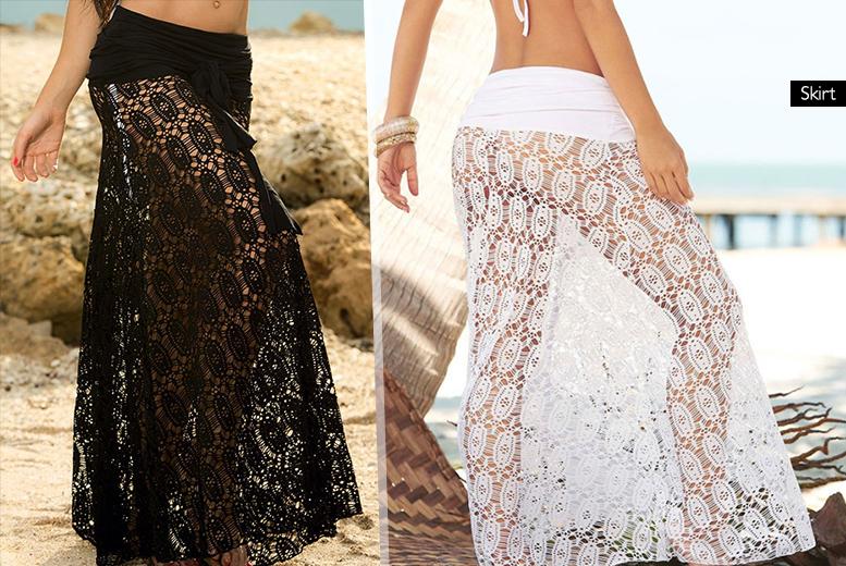 2 in 1 lace beach dress