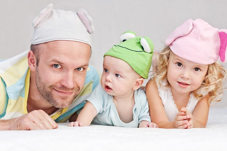 £9 instead of £49.99 for a Father's Day photoshoot for a family of four including two prints at Flawless Photography Studios - save 82%