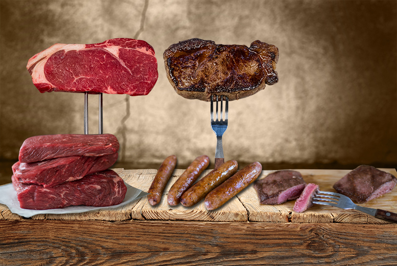 £29 instead of £74.95 (from Farmison) for a luxury steak hamper with steaks, burgers, pork thins and a cooking guide - save 61%