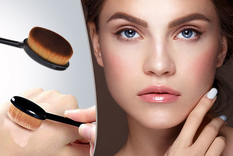 oval curve foundation brush