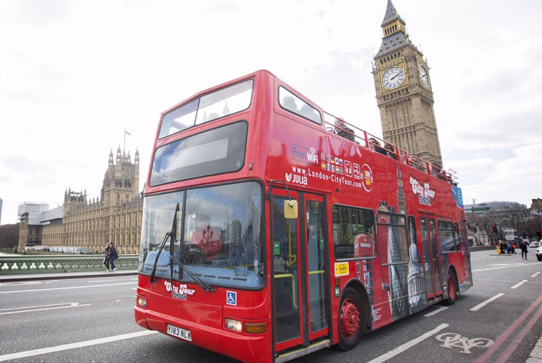 £6 instead of £10 for a child ticket for a 'hop on, hop off' bus tour, £11.40 for an adult ticket with London City Tour - save up to 40%