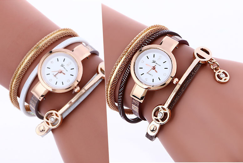 Snake Strap Wrap Crystal Watch - 4 Colours!