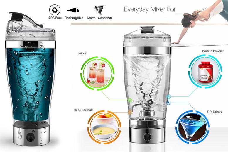 USB-Rechargeable 'Vortex' Protein Mixer for £9.99