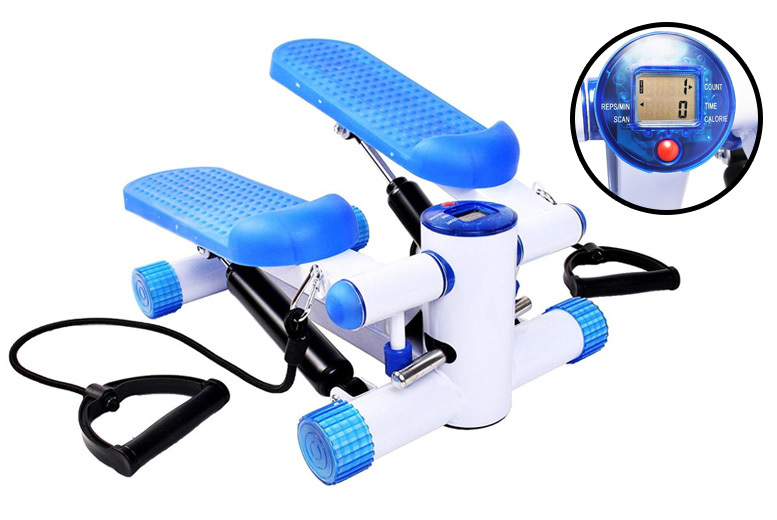 Aerobic Fitness Stepper with Training Ropes for £29
