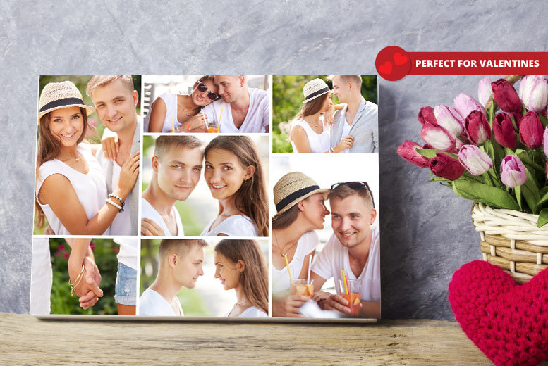 Valentine's Collage Canvas – A2 or A1! from £9.95