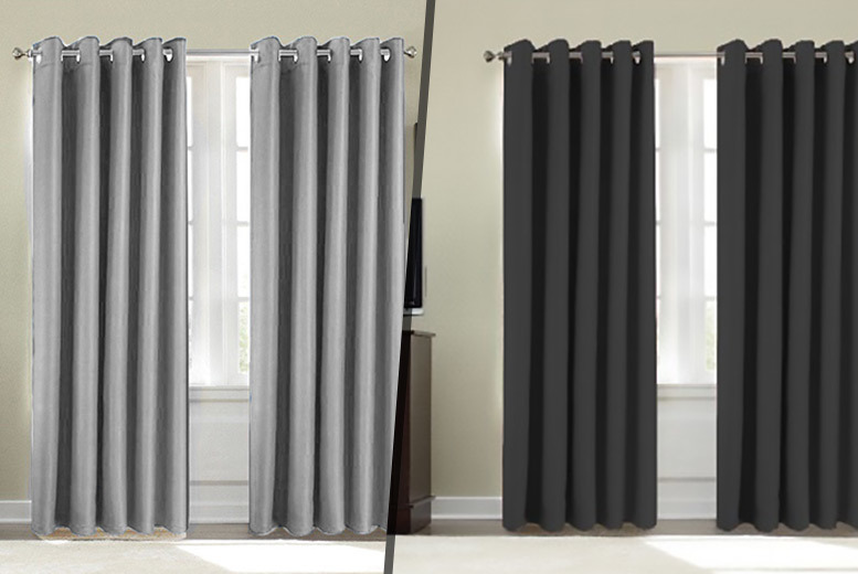 Thermal Blackout Curtains – 9 Colours & 6 Sizes! from £9.99