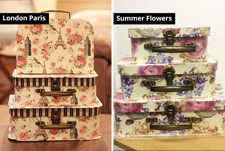 Set of 3 'Vintage' Storage Boxes- 4 Designs! for £9.99
