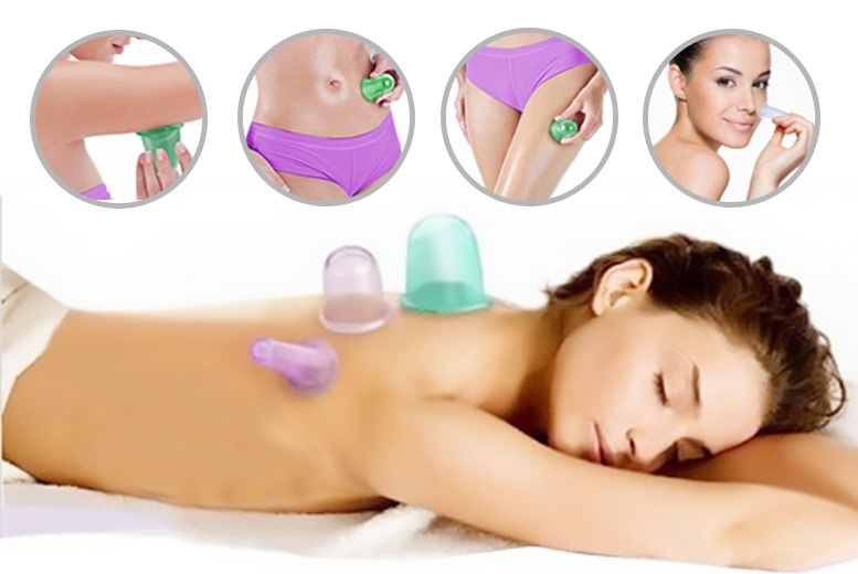 5 'Anti-Cellulite' Face & Body Massage Cups for £5.99