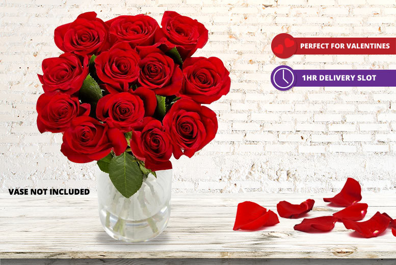A Dozen Luxury Giftwrapped Valentine's Day Roses for £19.99