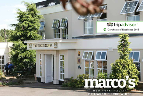 £99 (at the Best Western Premier Yew Lodge Hotel) for an overnight stay for two with dinner at Marco's New York Italian restaurant, £149 for two nights - save up to 36%