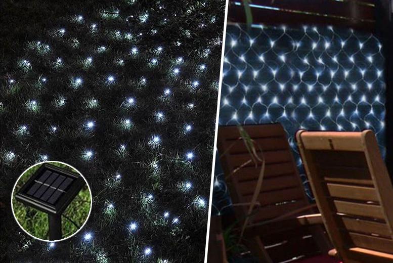 £6.99 instead of £19.99 for a 105-bulb solar net light - save 65%