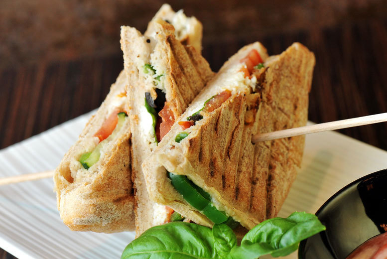 £7 instead of £13.60 for a sandwich, baguette or ciabatta with a drink for two people at Patisserie Valerie - save 49%