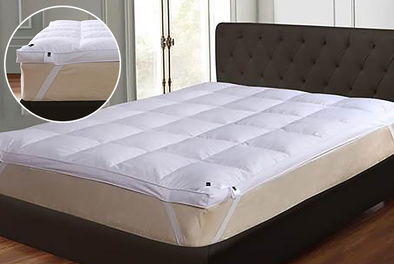 Extra-Deep 7cm Goose Feather & Down Mattress Topper