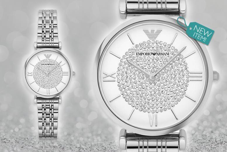 Emporio Armani Silvertone Watch