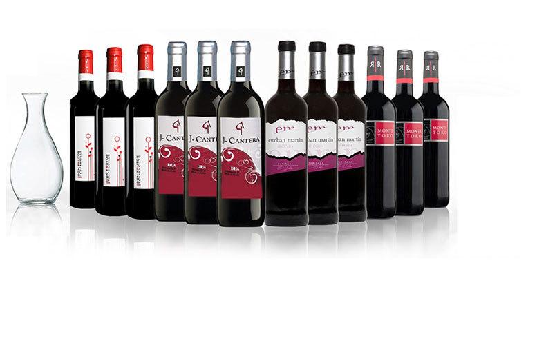 12 bottles of spanish red wine