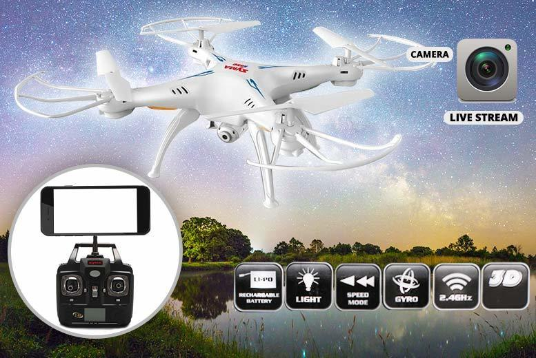 6-Axis Quadcopter Stealth Drone with HD Camera for £44