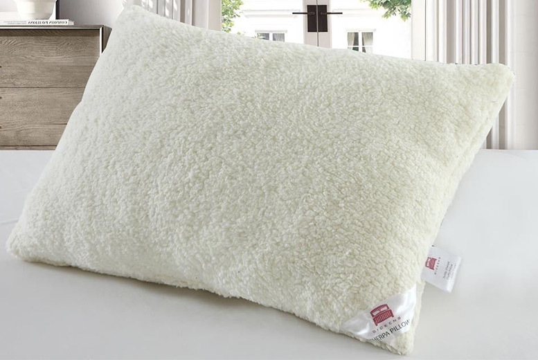 1 or 2 Super-Soft Teddy Sherpa Fleece Pillows