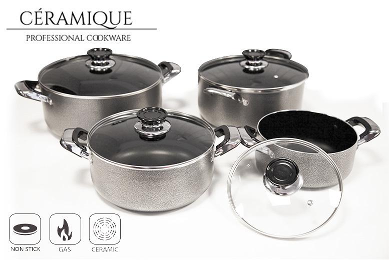 8pc Non-Stick Aluminium Cookware Set for £35.00