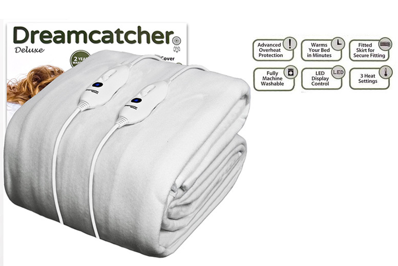 Dreamcatcher Luxury Polyester Heated Electric Under Blanket from £19.99