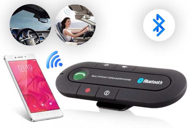 Wireless Bluetooth Car Kit – No Installation Required! for £9.99