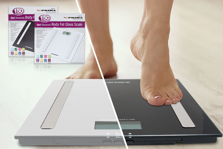 Electronic Body Fat Scales – 2 Colours! for £14.99