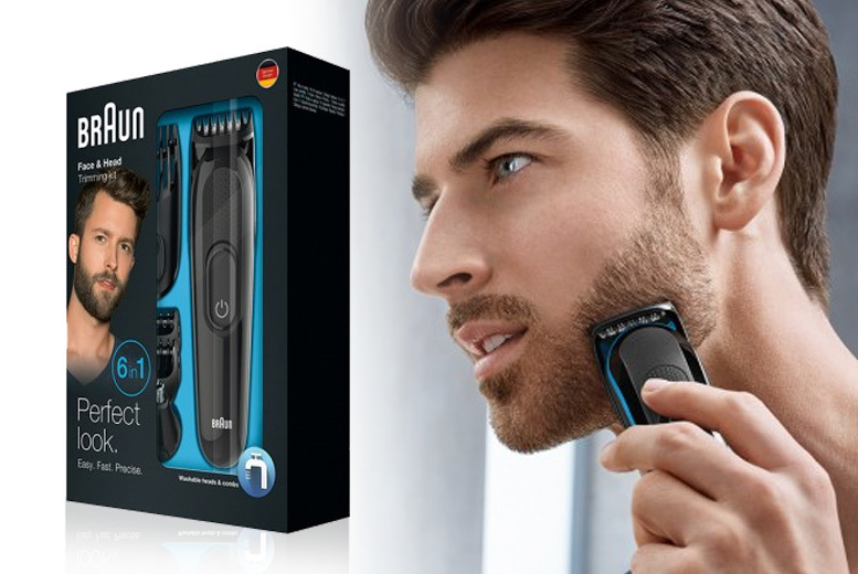 Braun 6-in-1 Face & Head Grooming Kit for £17.99