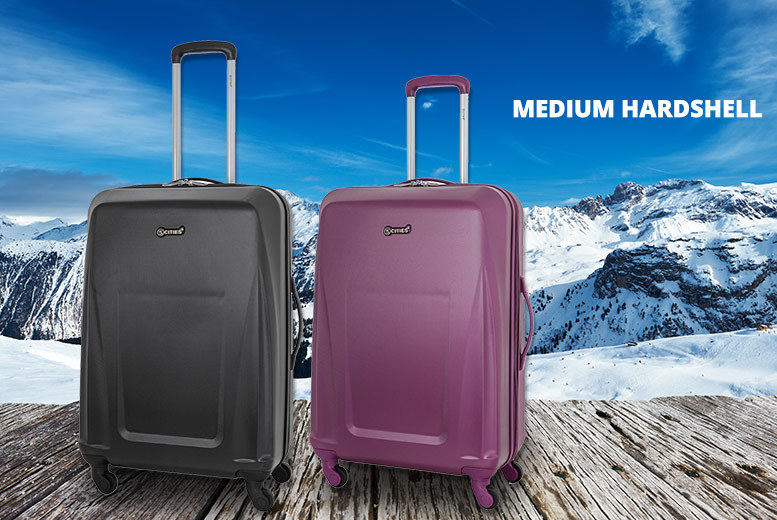 Medium Lightweight Hard-Shell Suitcase – 2 Colours! for £25.00