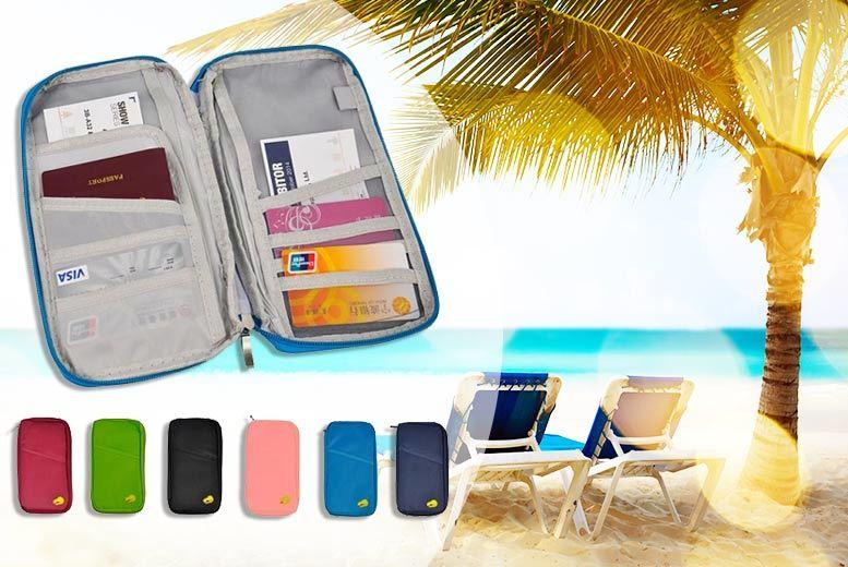 Passport & Document Travel Organiser – 6 Colours! for £2.99