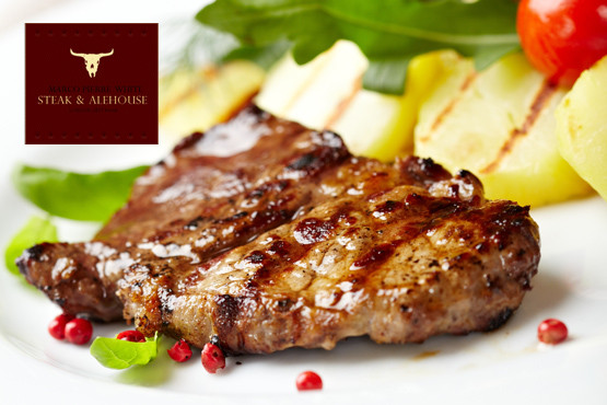 £49 instead of up to £102 for a 3 course meal for 2 & Champagne cocktail at Marco Pierre White Steak and Alehouse, The City - save up to 52%