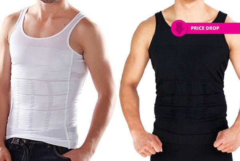 Men's 'Slimming' Vest – 4 Colours! for £7.99
