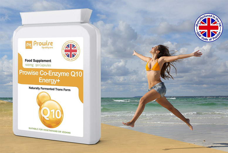 3 Months Supply* of Co-Enzyme Q10 Energy+ Capsules for £12.99