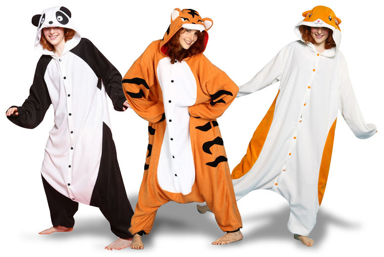 Adult Animal Onesie – Hamster, Tiger or Panda! for £14.99