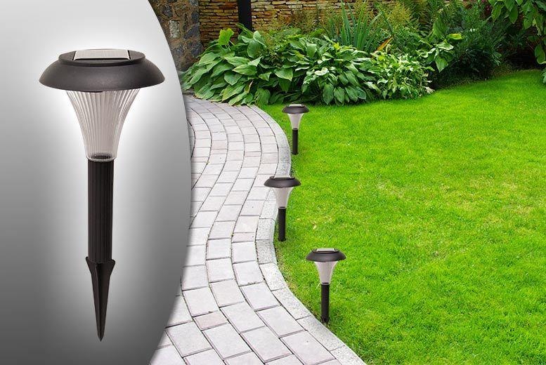 8 solar garden lights