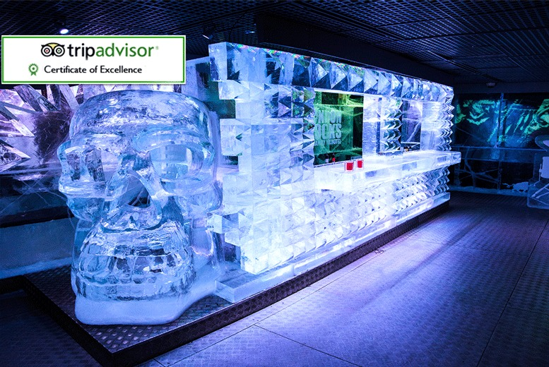 £36 instead of up to £55.50 for bar entry, a three-course meal and cocktail or glass of Champagne for one person at ICEBAR LONDON - save up to 35%