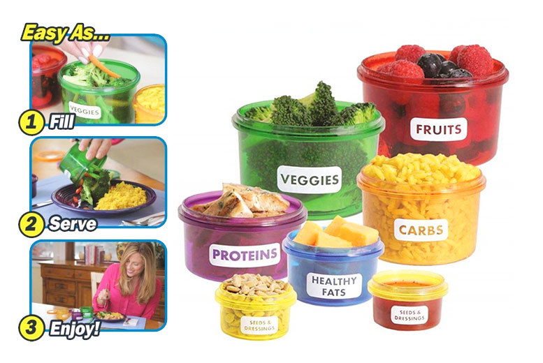 14pc Portion Control Container Set for £6.00