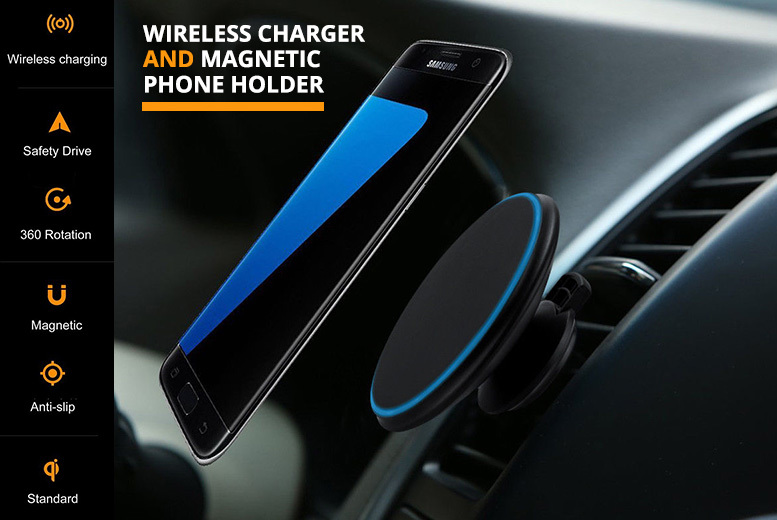 Magnetic Wireless Car Charger for £12.99
