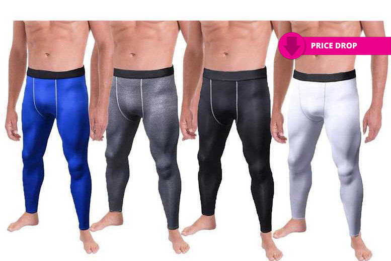 Men's 'Slimming' Compression Pants – 4 Colours & 2 Sizes! for £7.99