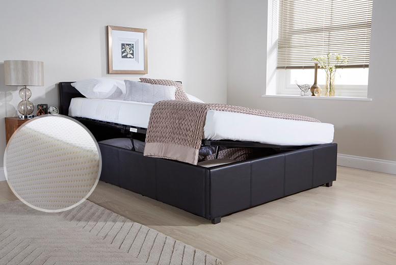 From £119 for a side lift ottoman storage bed, from £179 to include a eco memory foam mattress - choose single, double or king and save up to 48%