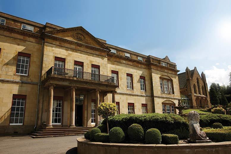 £109 (at Shrigley Hall Hotel) for an overnight stay for two with dinner, wine, breakfast and late check-out, £179 for a two-night stay with afternoon tea - save up to 54%