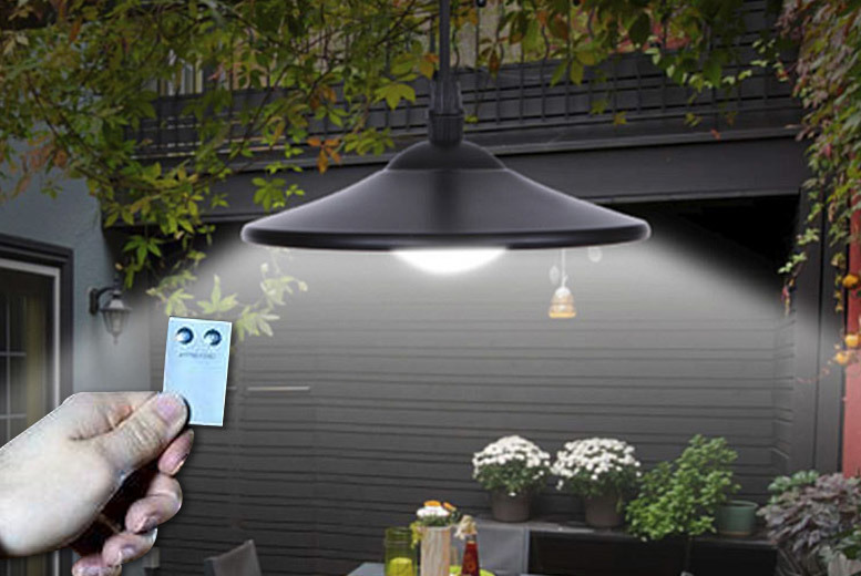 Solar-Powered LED Outdoor Garden Spotlight for £18.00