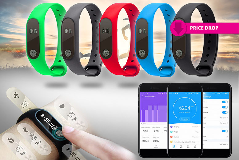 Smart-Touch Fitness Bracelet & Heart Rate Monitor - 5 Colours!