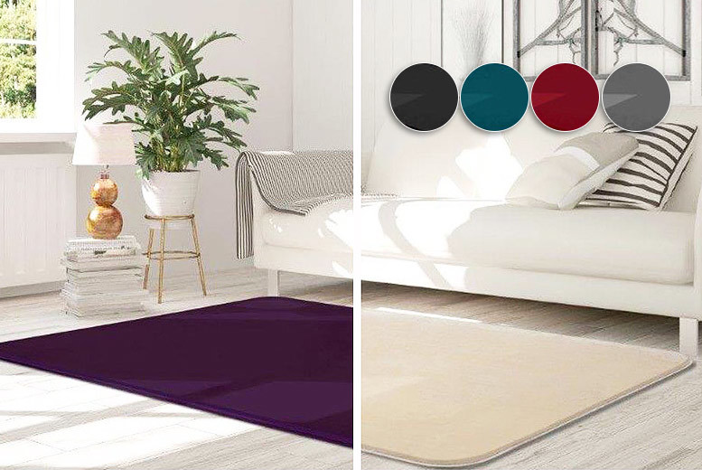 Luxury Velvet Rugs – 8 Colours & 3 Sizes! from £9.99
