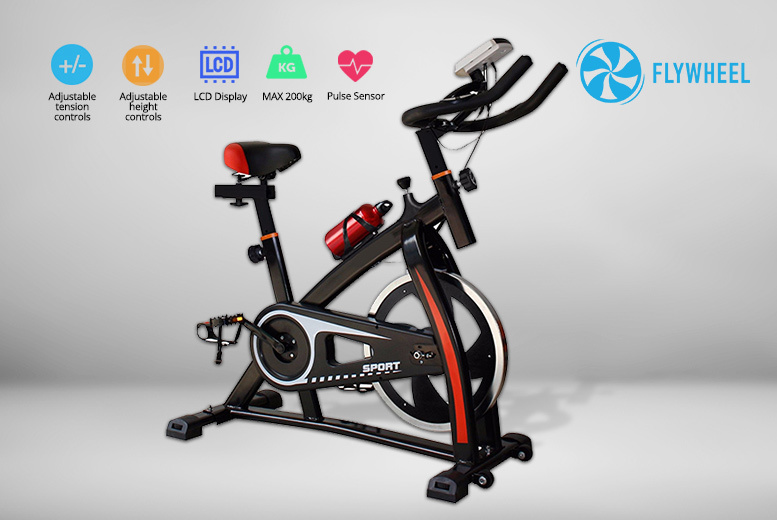 18kg Flywheel Exercise Bike with LCD Display & Monitor for £129.99