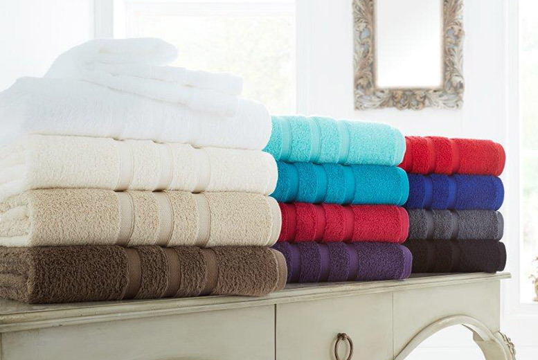 2 Zero-Twist 100% Cotton Bath Sheets – 12 Colours! for £14.99