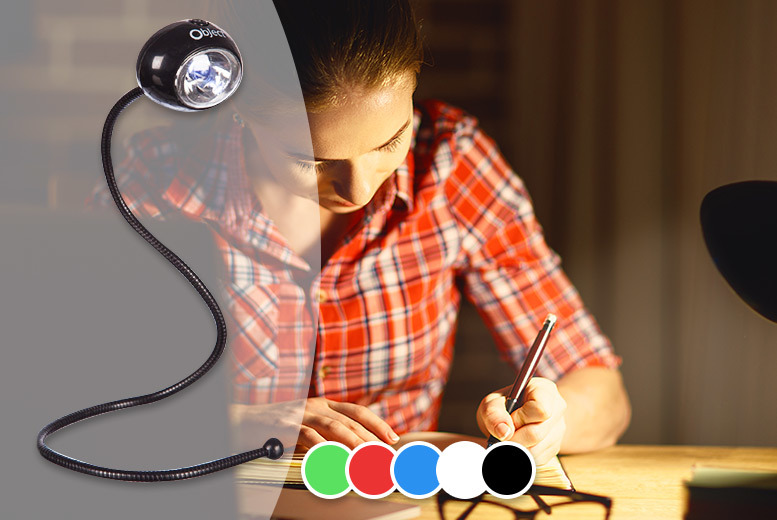 Flexible LED Reading Light – 5 Colours! for £2.99
