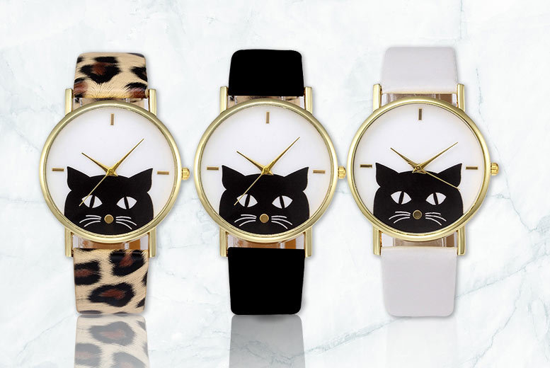 Peeping Cat Watch - 3 Designs!