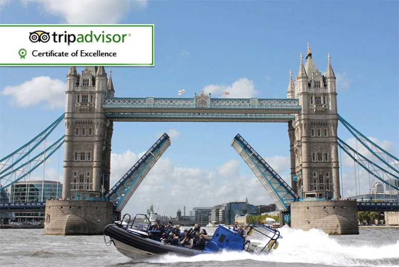 £14 for a 25-minute RIB boat thrill ride tour along the Thames for one person, £25 for a 50-minute ride with RIB Tours London, South Bank