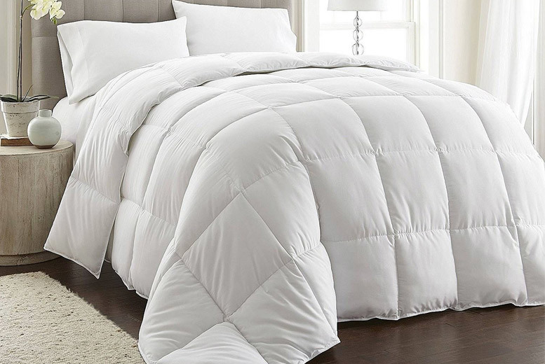13.5 Tog Anti Allergy White Goose Feather & Down Duvet from £23.99
