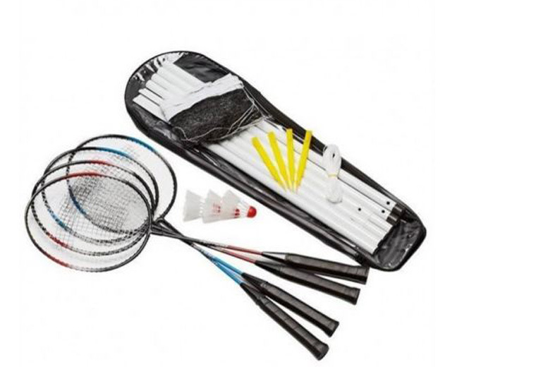 £12 instead of £39.99 (from Sashtime) for a four-player badminton set - save 70%