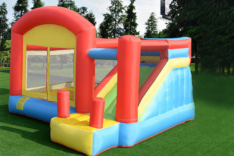 Inflatable Bouncy Castle with Play House and Slide for £229.00